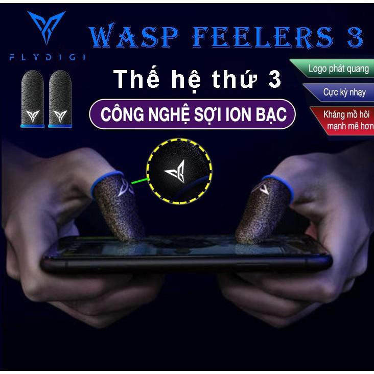 [ THẾ HỆ THỨ 3 ] Flydigi Wasp Feelers 3   Găng tay chơi game PUBG, Liên quân, chống mồ hôi, cực nhạy, co giãn cực tốt