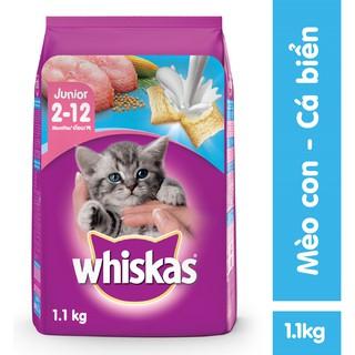 """Thức ăn mèo con Whiskas vị cá biển & sữa 1.1kg giá chỉ còn <strong class=""""price"""">8.600.000.000đ</strong>"""