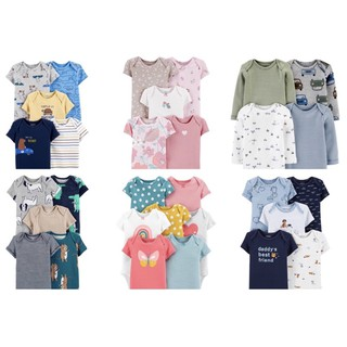 Set 3 chiếc body chíp 100% cotton hãng Carter's cho bé trai bé gái từ sơ sinh đến 24 tháng