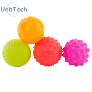 4pcs Textured Touch Hand Soft Training Balls Baby Develop Tactile Sense Toy