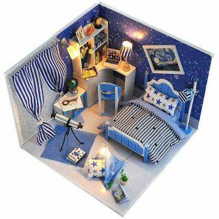 Mô hình nhà gỗ búp bê dollhouse DIY – TW1 Dream of story Sky