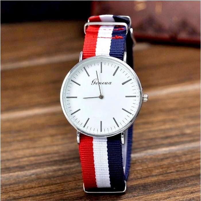 Đồng hồ dây vải GENEVA cho nam nữ
