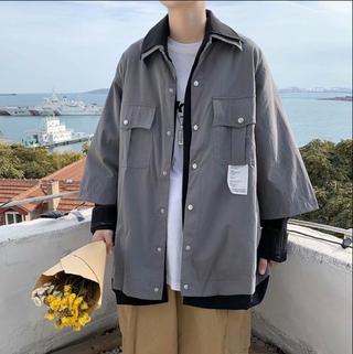 Jacket, Jacket, Jacket, Work Clothes, Men's Baseball Suit, Korean Fashion, Leisure, Hong Kong Style, Two Versatile Couple's Clothes