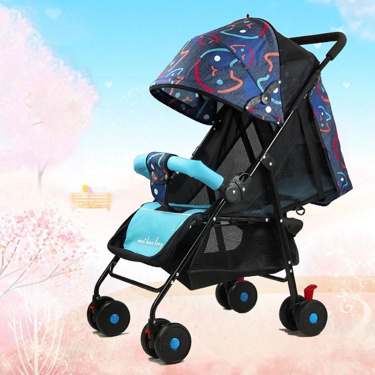 xe đẩy cho bé gấp gọn siêu nhẹ - xeđẩy cho bé