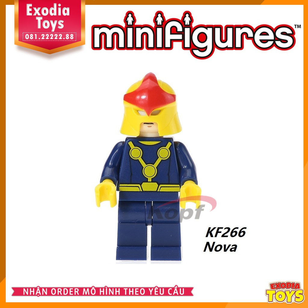 Minifigure nhân vật Nova (Richard Rider) – Siêu anh hùng Marvel – KF266