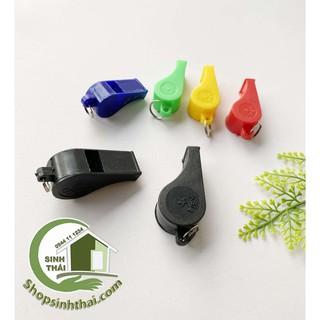 Còi thổi trọng tài, còi nhựa thể thao nhiều màu - giao màu ngẫu nhiên thumbnail
