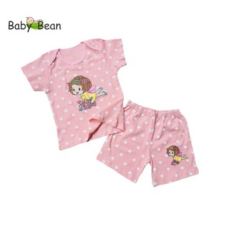 Bộ Đồ Thun Cotton Tay Ngắn Quần Ngắn BÉ GÁI HÌNH NGẪU NHIÊN (6kg-12kg) BabyBean thumbnail