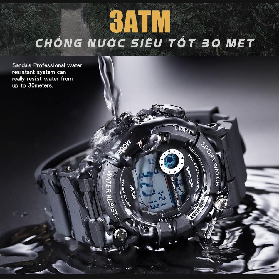 Đồng hồ Nam SANDA JAPAN JACOB, Siêu Chống Nước, Pin dùng 5 năm