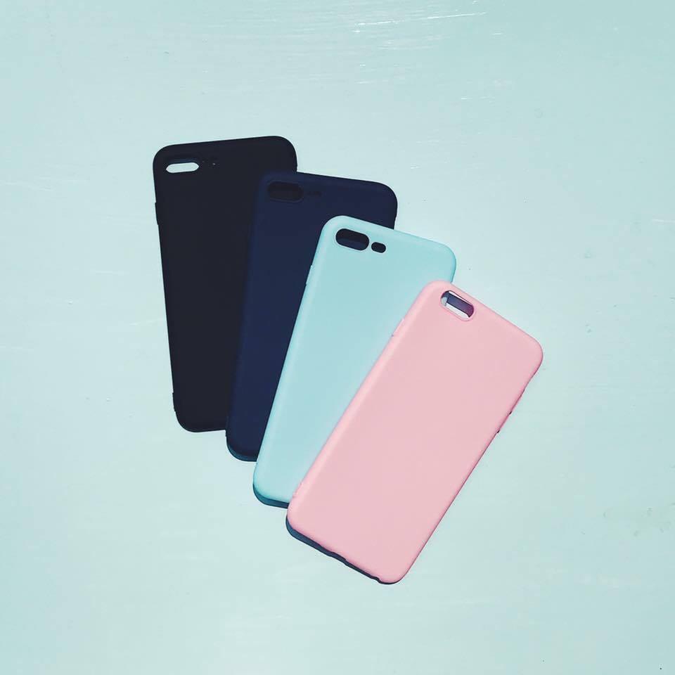 [ IP5/6Plus/7Plus ]Ốp silicon dẻo trơn nhiều màu dành cho iPhone [ 5/ 6Plus/ 7 Plus ]