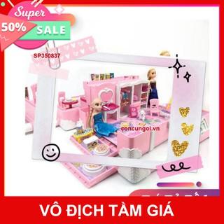 hcm- HCM- Đồ chơi Vali Dreamhouse Elsa-Anna nội thất nhà Frozen 2 búp bê , 1368-142