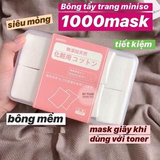 Bông tẩy trang MINISO Nhật Bản [Hộp 1000 miếng] thumbnail