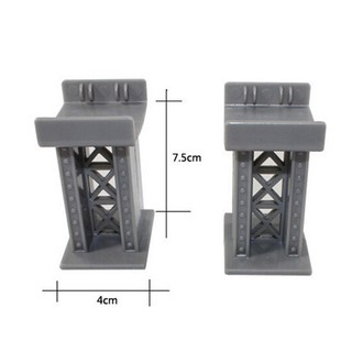 [BUDD&vn] 1 Pcs Train Bridge Pier Track Railway Accessories Compatible All Major Brands