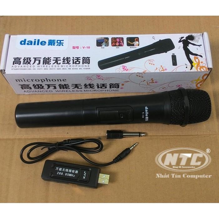 Micro Karaoke không dây cho loa kéo Daile V10 (đen) - Hỗ trợ các thiết bị có jack cắm 3.5mm và 6.5mm - 2507732 , 1066934001 , 322_1066934001 , 245000 , Micro-Karaoke-khong-day-cho-loa-keo-Daile-V10-den-Ho-tro-cac-thiet-bi-co-jack-cam-3.5mm-va-6.5mm-322_1066934001 , shopee.vn , Micro Karaoke không dây cho loa kéo Daile V10 (đen) - Hỗ trợ các thiết bị c