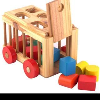 Xe thả hình gỗ cho bé
