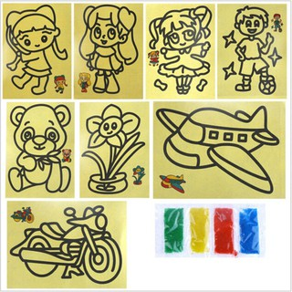 10Set/Lot Color Sand Painting Classical Learning And Educational Children's Toys
