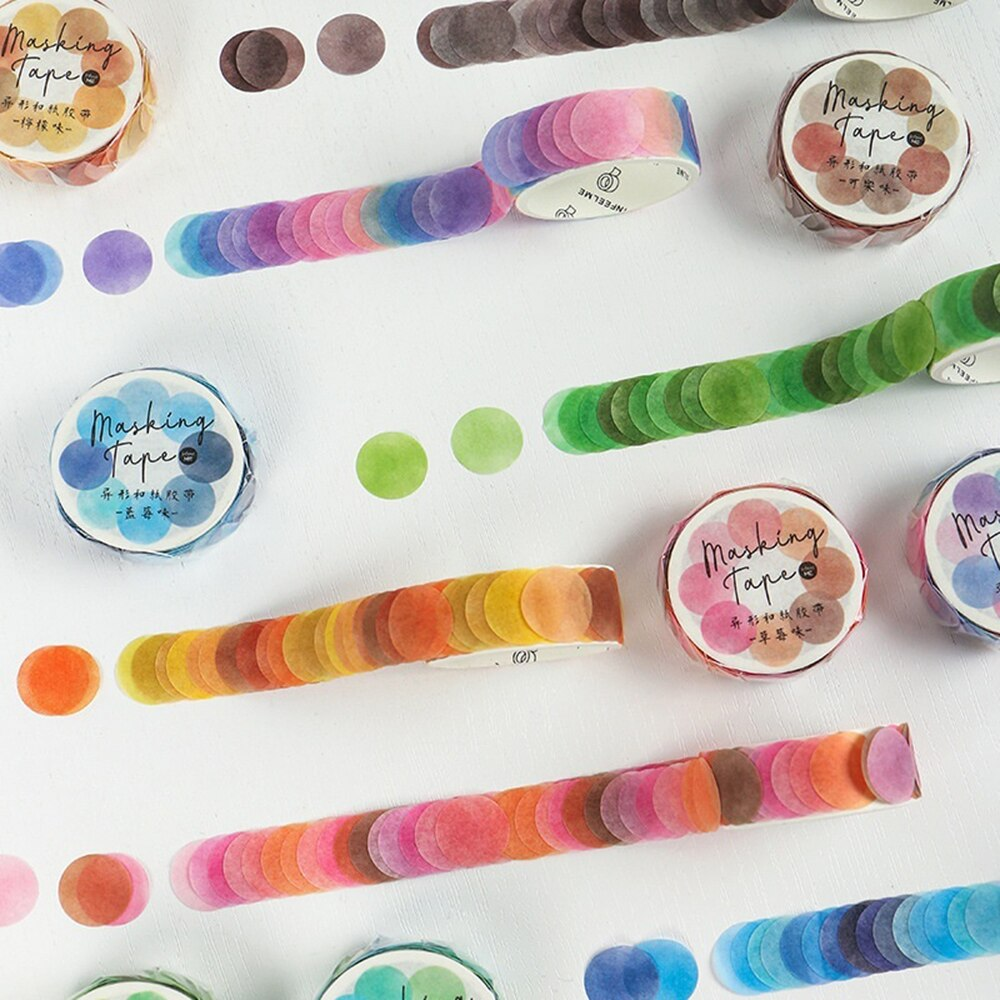 Cuộn 100 Miếng Dán Trang Trí Nhiều Màu Sắc