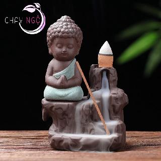 Thác Khói Trầm Hương Gốm Cao Cấp - Phật Tọa Bên Suối 3