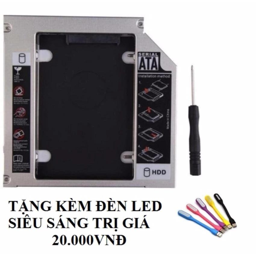 Caddy Bay SATA 3.0 9.5mm gắn thêm ổ cứng cho Laptop tặng đèn led usb siêu sáng -dc711+dc794 - 2582109 , 1318400375 , 322_1318400375 , 60500 , Caddy-Bay-SATA-3.0-9.5mm-gan-them-o-cung-cho-Laptop-tang-den-led-usb-sieu-sang-dc711dc794-322_1318400375 , shopee.vn , Caddy Bay SATA 3.0 9.5mm gắn thêm ổ cứng cho Laptop tặng đèn led usb siêu sáng -dc7