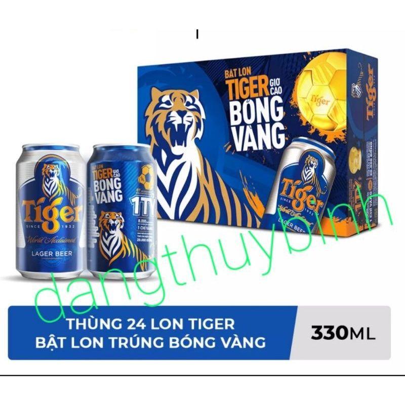 (BIA CÓ TRÚNG THƯỞNG). Thùng bia Tiger (24 lon) 330ml