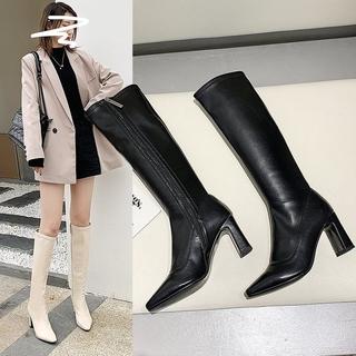 """Giày Boots Cao Gót Mũi Nhọn Chất Liệu Co Giãn Trẻ Trung Cá Tính giá chỉ còn <strong class=""""price"""">36.300.000.000đ</strong>"""