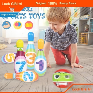 ❤Ready Stock Mini Bowling Toys Outdoor Sports Games Kids Plastic Multicolor