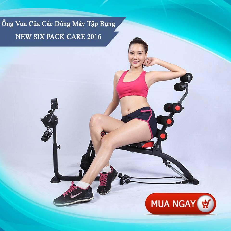 Máy tập thể dục giảm béo new six pack care 2017 (Có đạp xe)
