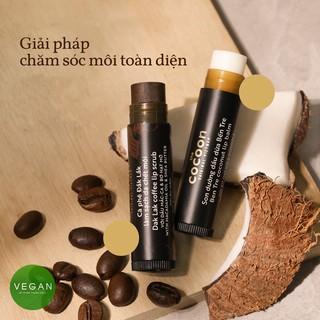 Hình ảnh Combo son tẩy da chết môi Cà phê đắk lắk cocoon5g+son dưỡng môi dầu dừa bến tre cocoon5g-1