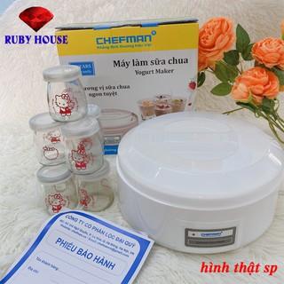 FREESHIP Máy làm sữa chua 8 cốc thủy tinh Chefman CHÍNH HÃNG-Ruby House