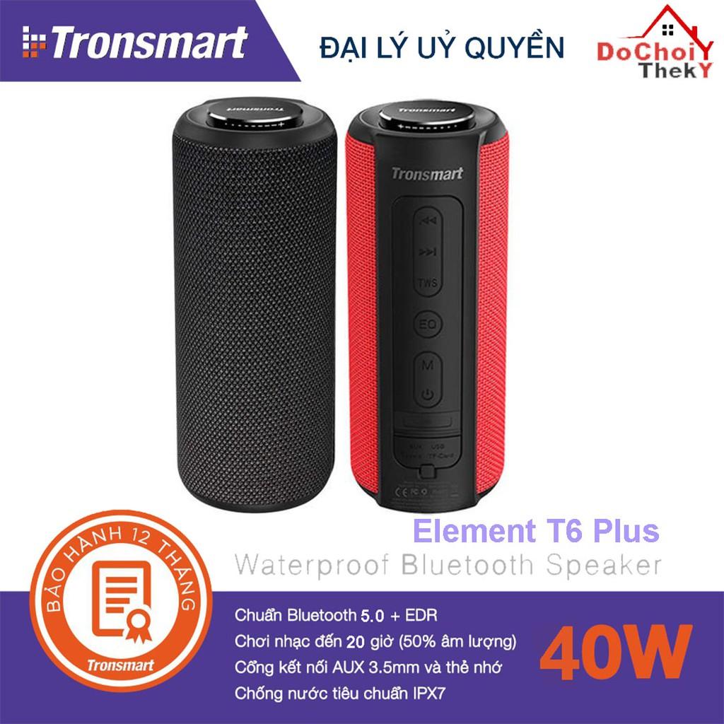[Mã ELMS4 giảm 7% đơn 500K] Loa Bluetooth Tronsmart Element T6 Plus Loa di động 40W, Chống nước IPX7, kiêm sạc dự phòng