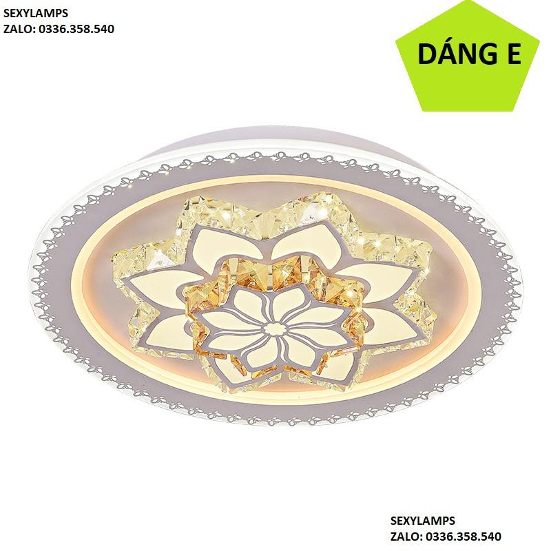 ĐÈN TRẦN PHÒNG KHÁCH - ĐỔI MÀU 3 CHẾ ĐỘ ÁNH SÁNG DT001