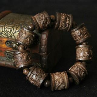 [RẺ VÔ ĐỊCH] Vòng Đeo tay phong thủy Trầm Sánh Chìm, Khắc thủ công, Bền VĨNH VIỄN, Tặng hèm hộp đựng lót lụa vàng.