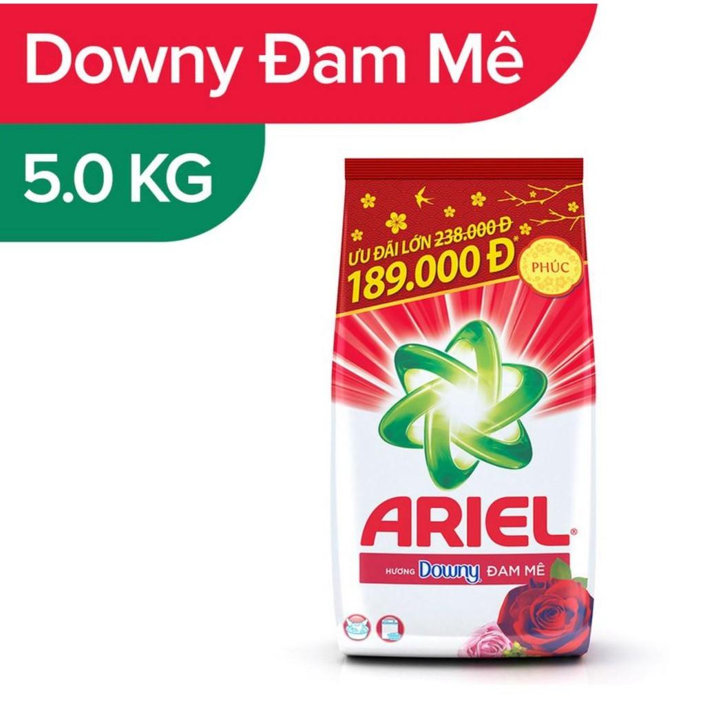 Bột Giặt Ariel Hương Downy Đam Mê/ nắng mai Túi 5kg