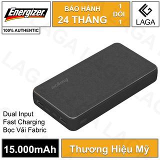 Pin Sạc Dự Phòng Energizer 15000mAh Li-Polymer Bọc Vải Fabric UE15043