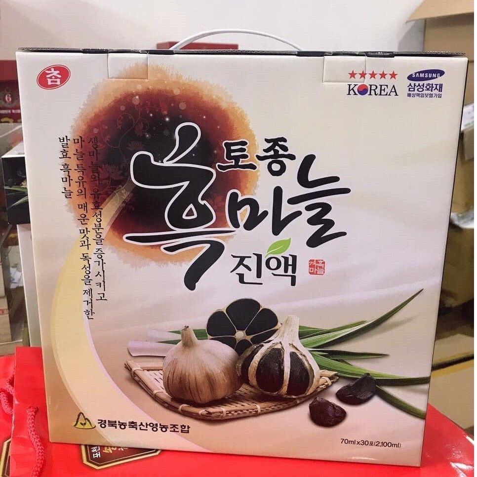 HOTNước Tinh Chất Tỏi Đen Hàn Quốc Hộp 30 Gói * 70ml