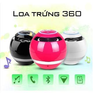 Loa Mini Trứng Bluetooth 360 Di Động Quả Cầu Tròn Hỗ Trợ Cắm Thẻ Nhớ Độc Đáo ( Hồng)