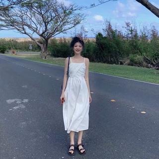 [HÀNG ORDER] Đầm vạt chéo trước ngực 2 dây đi biển