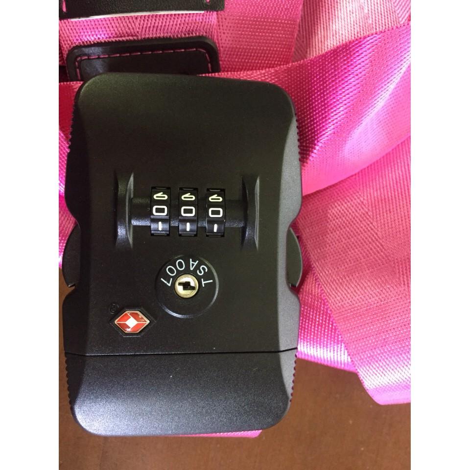 Dây đai vali cao cấp TSA khóa 3 số