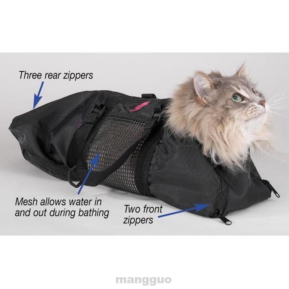 Anti Scratch Bathing Bite Restraint Black Durable Nail Trimming Portable Versatile Safely Cat Grooming Bag