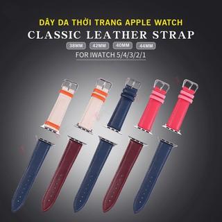 [𝑴𝒐̛́𝒊 𝒓𝒂 𝒎𝒂̆́𝒕 2020] Dây Da Apple Watch 2 Màu Thời Trang Dành Cho Series SE | 6 | 5 | 4 | 3 | 2 | 1 38mm 42mm 40mm 44mm