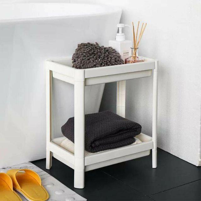 Kệ đựng đồ nhà tắm Ikea Vesken 2 TẦNG 36 x 23 x 40 cm (Trắng)