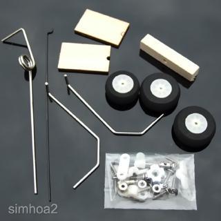 Set KT Board RC Airplane Landing Gear Wheel DIY Modelling Accessories Kit