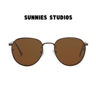 Kính mát Sunnies Studios Gọng Tròn Zuma in Sepia