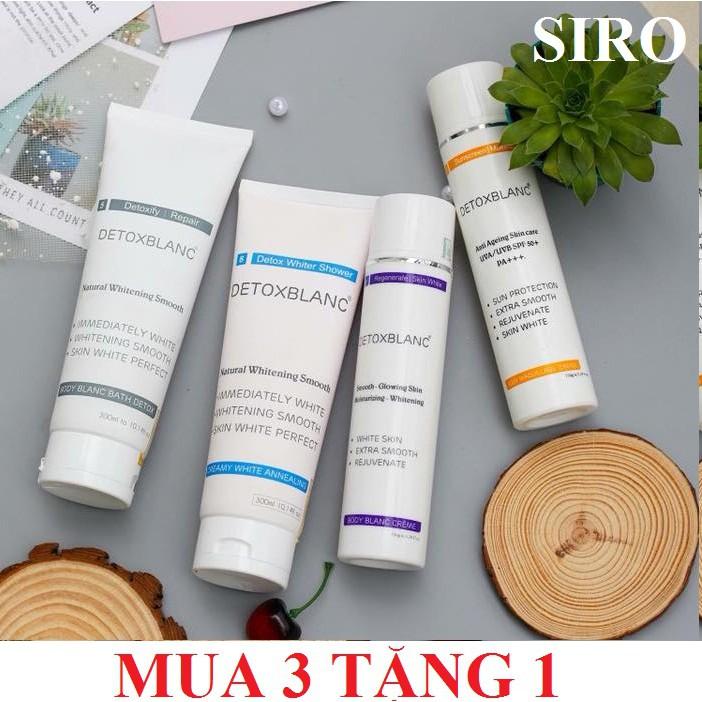 (MUA 3 CHAI TẶNG 1 CHAI) Sữa tắm - ủ khóa trắng - kem body đêm, tặng 1 kem body ngày Detox BlanC - 3413941 , 986424996 , 322_986424996 , 1210000 , MUA-3-CHAI-TANG-1-CHAI-Sua-tam-u-khoa-trang-kem-body-dem-tang-1-kem-body-ngay-Detox-BlanC-322_986424996 , shopee.vn , (MUA 3 CHAI TẶNG 1 CHAI) Sữa tắm - ủ khóa trắng - kem body đêm, tặng 1 kem body ngày