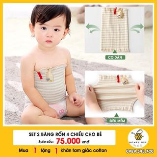 [MỚI] – Băng rốn, băng giữ ấm bụng cotton co giãn 4 chiều cho bé