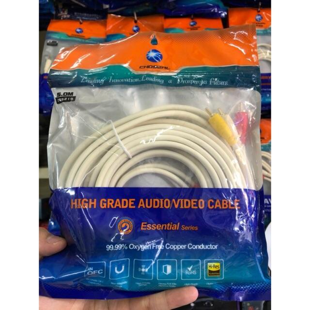 Cáp kết nối audio/video 5m Choseal 3ra3