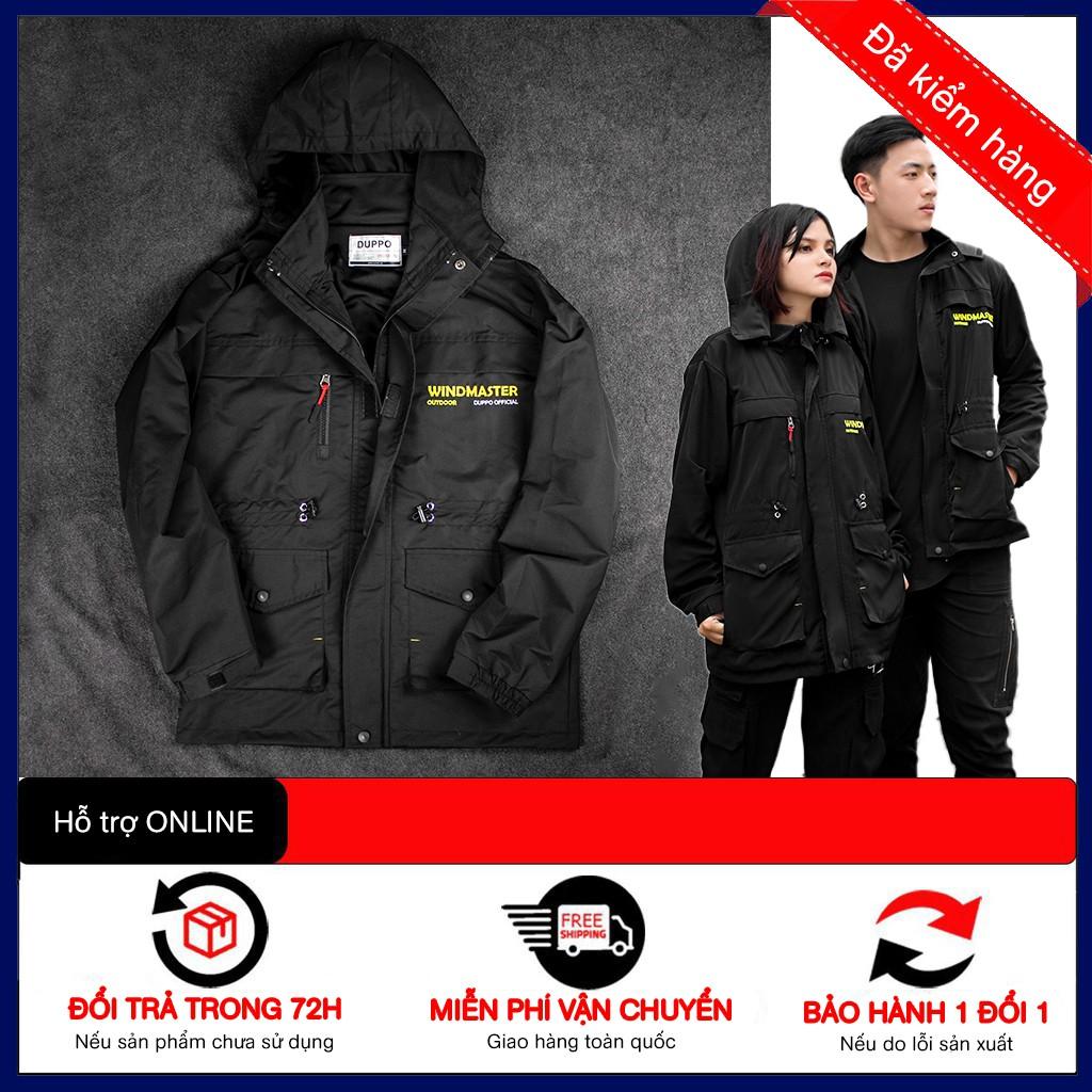 Áo khoác vải dù WindMaster Jacket (Plus+) Logo thêu