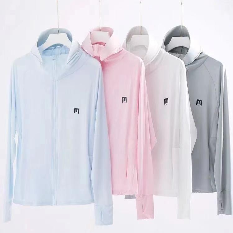 Áo Khoác Chống Nắng Chống Tia UV Chất Thun Lạnh Thoáng Khí Co Giãn Tốt Nhiều Màu Freesize Từ 65kg