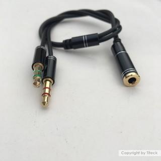 [Mã ELORDER5 giảm 10K đơn 20K] Cáp gộp Audio và mic 3.5mm loại tốt