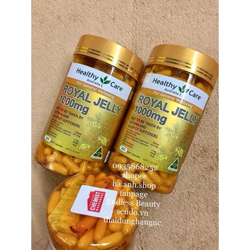 Viên dưỡng royal jelly Healthy Care