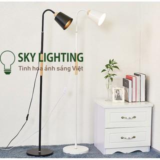 Đèn cây đứng trang trí phòng khách phong cách Bắc Âu Tặng kèm bóng LED 12w đèn led đọc sách sofa